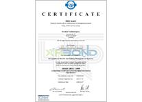职业健康和安全OHSAS_18001证书